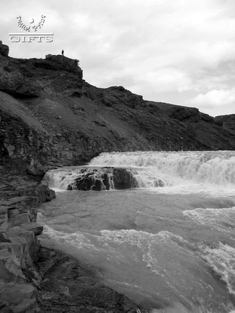 GullfossC- Golden Falls in BW