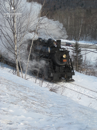 SITSD- Steam Locomotive Admist Birch Trees and Snow- 2nd