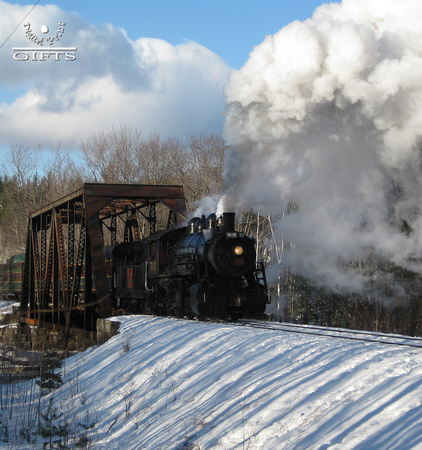 SITSA- Steam Locomotive Over New Hampshire Bridge- 1st